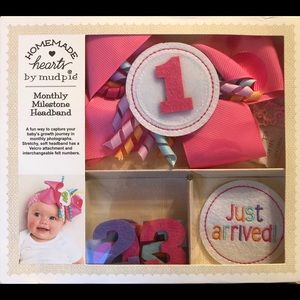 Mud Pie Monthly Bow Headband Baby Girl Birthday